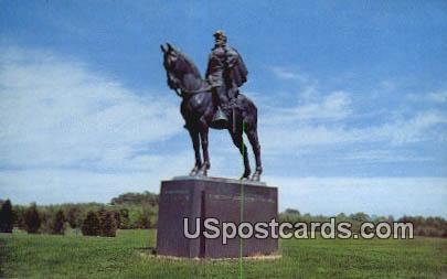 Stonewall Jackson Statue - Manassas National Battlefield Park, Virginia VA Postcard