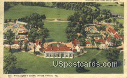 Washington's Estates - Mt Vernon, Virginia VA Postcard