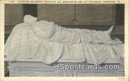 Statue of Lee, Washington & Lee University - Lexington, Virginia VA Postcard