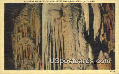 Caves - Shenandoah Valley, Virginia VA Postcard