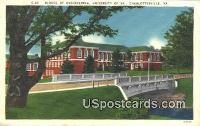 School of Engineering, University of Virginia - Charlottesville Postcard