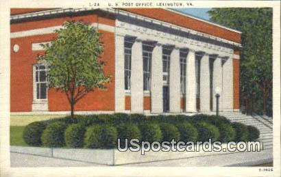 US Post Office - Lexington, Virginia VA Postcard