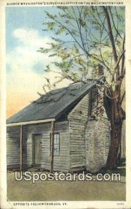 George Washington's Surveying - Fredericksburg, Virginia VA Postcard