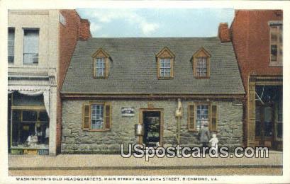 Washington's Old Headquarters - Richmond, Virginia VA Postcard