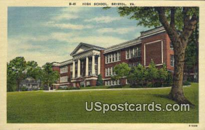 High School - Bristol, Virginia VA Postcard