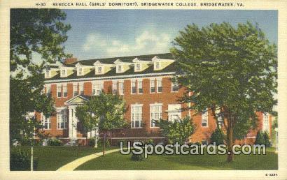 Rebecca Hall, Bridgewater College - Virginia VA Postcard