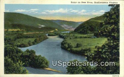 New River - Southwestern Virginia Postcards, Virginia VA Postcard