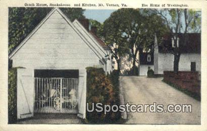 Coach House, Smokehouse - Mt Vernon, Virginia VA Postcard