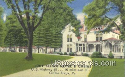 Lucy Selina Motel & Cabins - Clifton Forge, Virginia VA Postcard