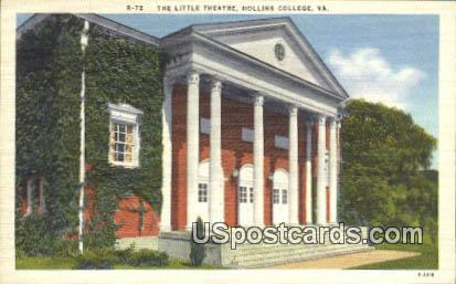 Little Theatre - Hollins College, Virginia VA Postcard
