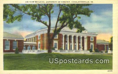 Law Building, University of Virginia - Charlottesville Postcard
