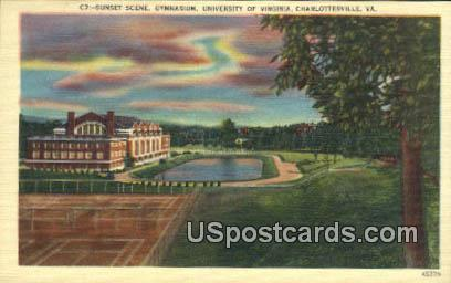 Gymnasium, University of Virginia - Charlottesville Postcard