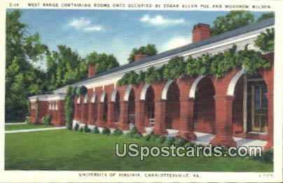 Edgar Allan Poe & Woodrow Wilson - Charlottesville, Virginia VA Postcard