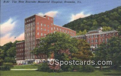New Roanoke Memorial Hospital - Virginia VA Postcard