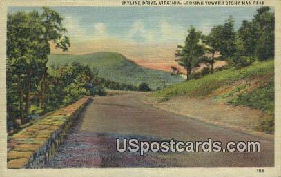 Stony Man Peak - Skyline Drive, Virginia VA Postcard