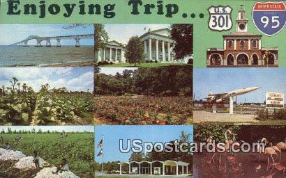 Interstate 95 - Orangeburg, Virginia VA Postcard