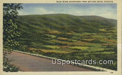 Blue Ridge  - Skyline Drive, Virginia VA Postcard