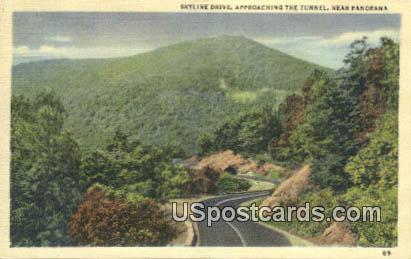 Tunnel - Skyline Drive, Virginia VA Postcard