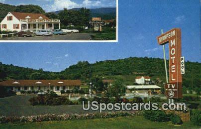 Thompson Motel & Fort Vause Restaurant - Shawsville, Virginia VA Postcard