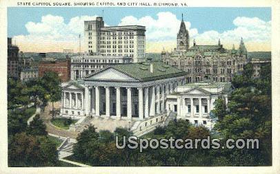 State Capitol Square - Richmond, Virginia VA Postcard