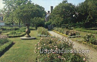 Colonial Garden, Washington's Birthplace - Fredericksburg, Virginia VA Postcard