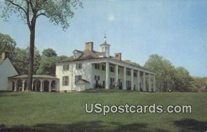 Home of George Washington - Mt Vernon, Virginia VA Postcard
