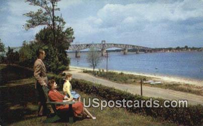 Bridge Over the York River - Jamestown, Virginia VA Postcard