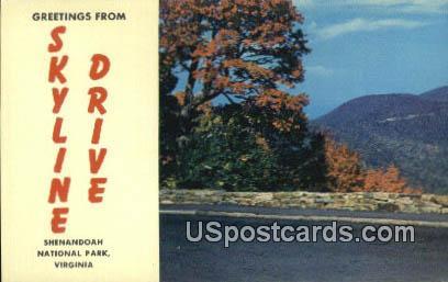 Shenandoah National Park - Skyline Drive, Virginia VA Postcard
