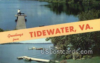 Tidewater, VA Postcard       ;         Tidewater, Virginia