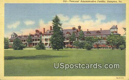 Veterans' Administrative Facility - Hampton, Virginia VA Postcard