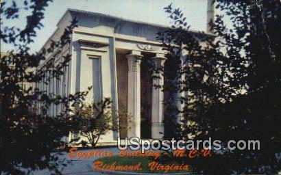 Egyptian Building, Medical College of Virginia - Richmond Postcard