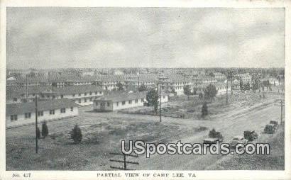 Camp Lee, VA Postcard       ;         Camp Lee, Virginia
