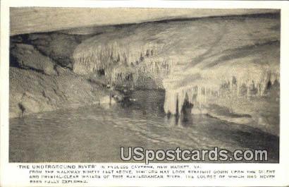Underground River, Endless Caverns - New Market, Virginia VA Postcard