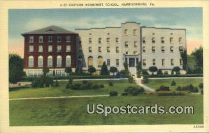 Eastern Mennonite School - Harrisonburg, Virginia VA Postcard