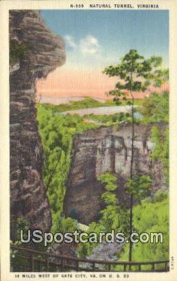 Natural Tunnel, Virginia Postcard     ;       Natural Tunnel, VA