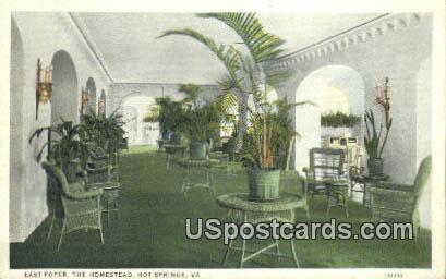 East Foyer, Homestead - Hot Springs, Virginia VA Postcard