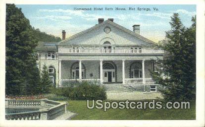 Homestead Hotel Bath House - Hot Springs, Virginia VA Postcard