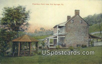 Fassifern Farm - Hot Springs, Virginia VA Postcard