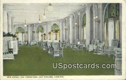 New Foyer, Homestead - Hot Springs, Virginia VA Postcard