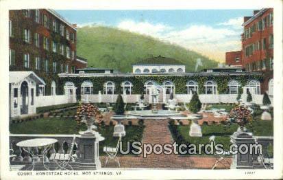 Court, Homestead Hotel - Hot Springs, Virginia VA Postcard