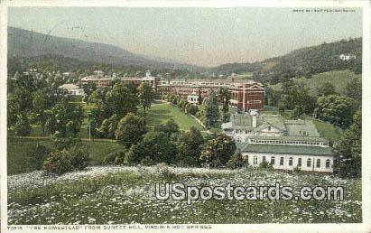 Homestead, Sunset Hill - Hot Springs, Virginia VA Postcard