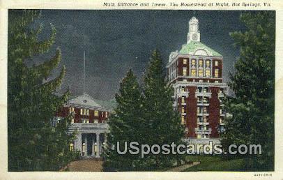 Tower, Homestead - Hot Springs, Virginia VA Postcard
