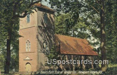 Benns Church - Newport News, Virginia VA Postcard