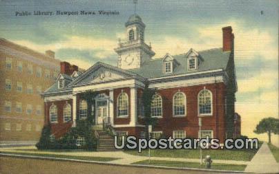 Public Library - Newport News, Virginia VA Postcard