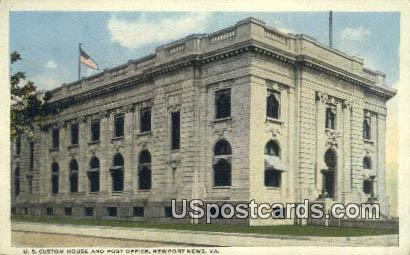 US Custom House & Post Office - Newport News, Virginia VA Postcard