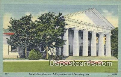 Custis Lee Mansion - Arlington National Cemetery, Virginia VA Postcard