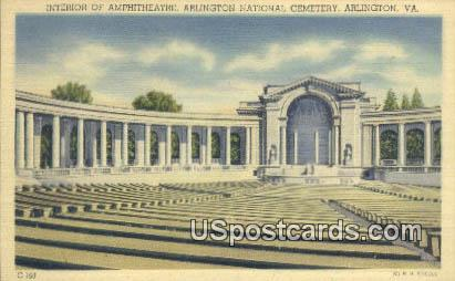 Amphitheatre - Arlington National Cemetery, Virginia VA Postcard