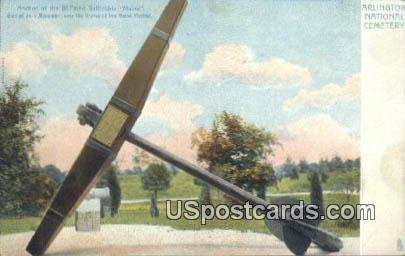 Anchor, Battleship Maine - Arlington National Cemetery, Virginia VA Postcard