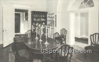Family Dining Room, Lee Mansion - Arlington National Cemetery, Virginia VA Postcard