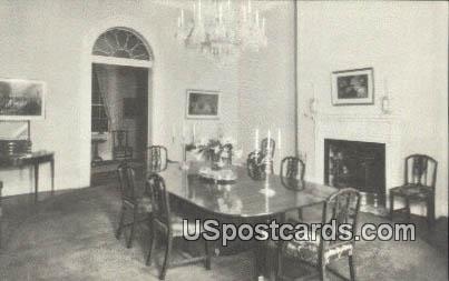 State Dining Room, Lee Mansion - Arlington National Cemetery, Virginia VA Postcard